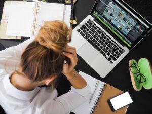 frustration-when-blogging