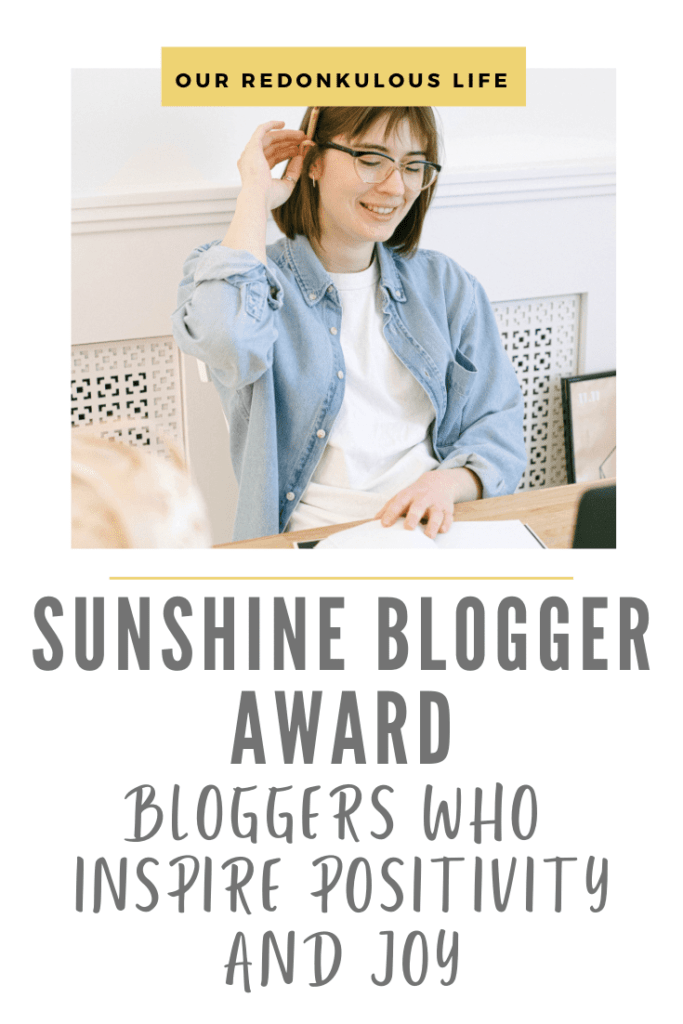 Sunshine Blogger Award for bloggers