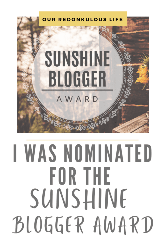 2020 Sunshine Blogger Award