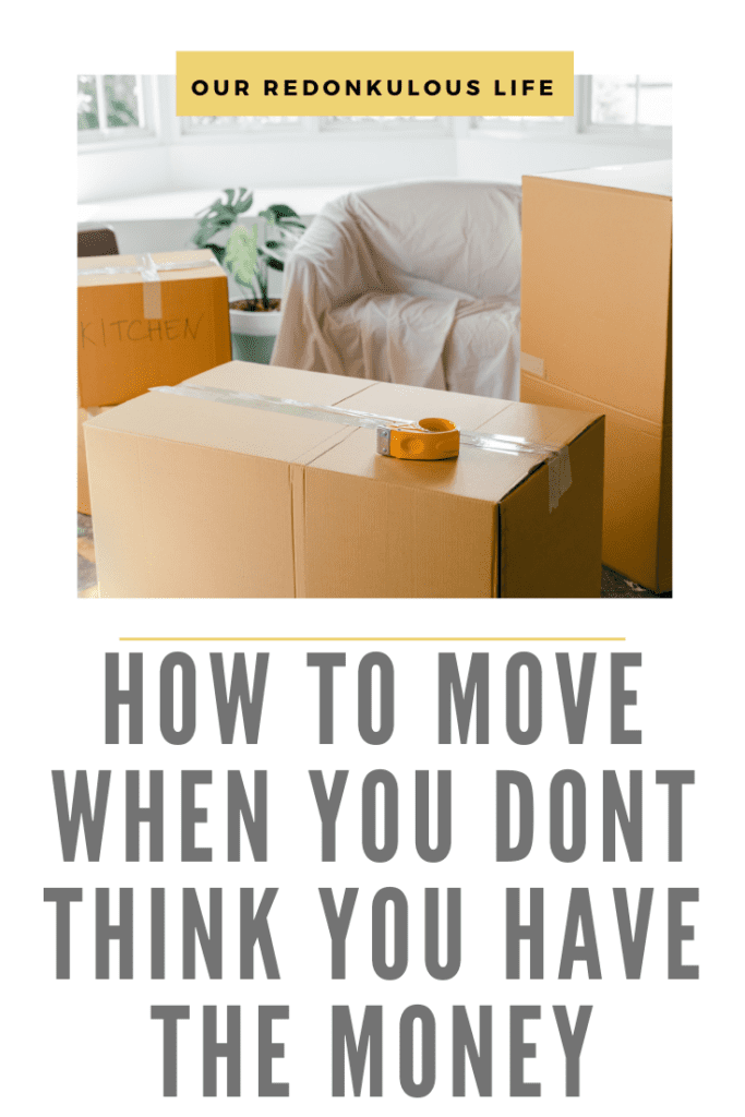 How to move when you have absolutely no money