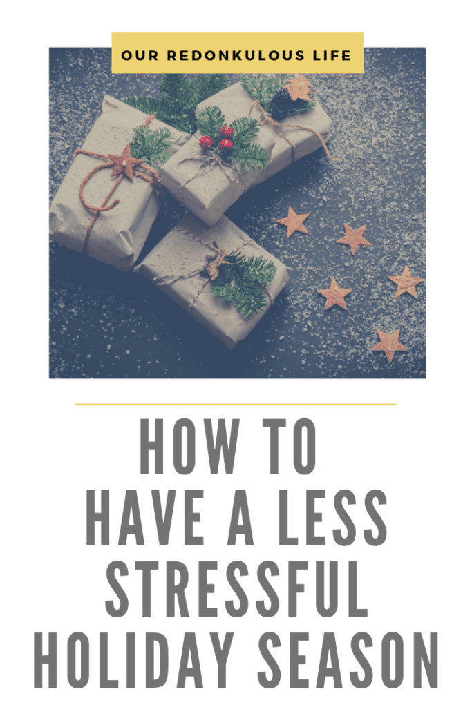 less stressful holiday season