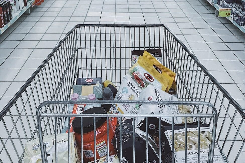grocery cart with item good luck superstitions